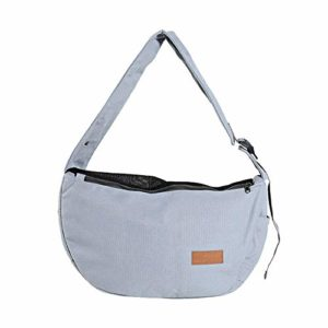 Pet Carrier Bag, Poches latérales avec Grande capacité Pet Sling Bag, Sangle réglable en Toile Animal Carrier Bag, N° 0, Gris, Free Size