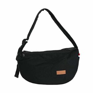 Pet Carrier Bag, Poches latérales avec Grande capacité Pet Sling Bag, Sangle réglable en Toile Animal Carrier Bag, N° 0, Noir, Free Size
