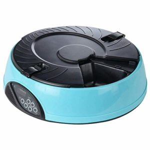 Pet Feeder 6 Meals, Distributeur Automatique d'aliments pour Animaux avec Rappel Vocal et réglage de la minuterie (Couleur : Light Blue)