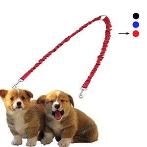 PETBABY Laisse de chien rétractable double laisse Doublement Pour Deux Chiens Idéal pour Course à Pied , Jogging , Randonnée et Marche