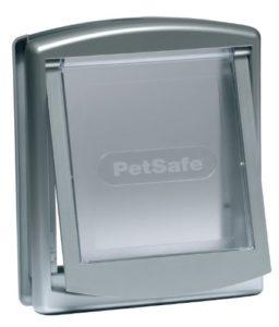 PetSafe – Petite Porte pour Animaux d'Origine Staywell (S) – Résistante – Panneau de Fermeture Inclus – Argenté