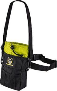 Pochette à friandises pour chien | Sac à friandises 4 en 1 avec ceinture, clip de ceinture, boucles de ceinture et bandoulière | 4 Compartiments