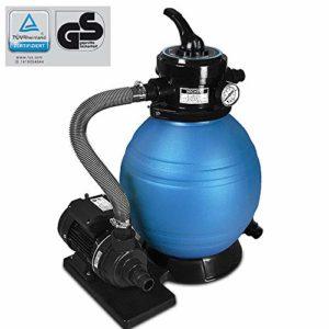 Pompe filtre à sable et particule 10200 l/h avec sa pompe et ses accessoires