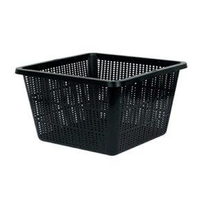 Pot panier carré pour systèmes de culture hydroponique (28x28cm)