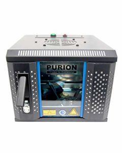 PURION UVC BOX Small Désinfectant Sans produits chimiques Désinfection de surface, stérilbox, antivirus, désinfection quotidienne Plus Noir