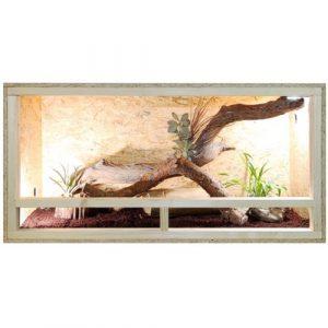 Repiterra Terrarium reptiles & batraciens en bois OSB – facile à monter – Aeration sur les cotés – 120x60x60cm