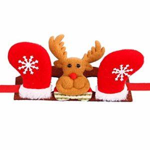 Sanwoodd Chapeau Halloween Prop Mignon Chien Chats Chapeaux Bandeau Elk Santa Bonhomme De Neige Arbre Forme 2# S
