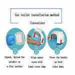 Super Eight Cat Litter Box – Plastique, Cat Toilet Fully Enclosed Design Mettre Fin à la Puanteur, Large,Vert