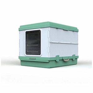 SWQG-Poêle Bac À Litière Pliable pour Chat Résistant Aux Éclaboussures Toilettes pour Chats Surdimensionnées Entièrement Fermées Chat Toilette-Facile à Nettoyer (Couleur : Green)