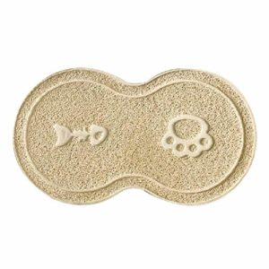 Tapis de gamelle en PVC imperméable et antidérapant pour Animaux domestiques RQUEN