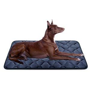Tapis doux pour chien, Coussin de luxe et durable, Tapis antidérapant et lavable de chien Hero Dog (Gris, grande taille)
