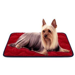 Tapis doux pour chien, Coussin de luxe et durable, Tapis antidérapant et lavable de chien Hero Dog (Rouge, Petite)