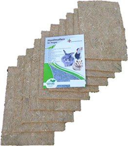 Tapis pour rongeurs en chanvre, 40x25cm, épaisseur 5mm, lot de 10 (EUR 2,75/pièce). Tapis en tant que pour les lapins, cochons d'Inde, hamsters, dègues, rats et d'autres rongeurs.