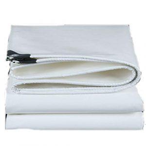 tarpaulin Fovert Ross Bâche Blanche réversible épaissie imperméable – Bâche en Plastique avec Oeillets en métal – Couverture extérieure de Camping, Soleil ou Pluie