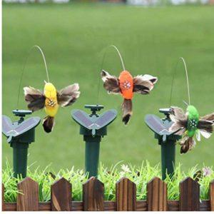 TOSSPER Extérieur électrique Hummingbird Solaire Décoration Danse Artisanat Volant Jardin Fluttering Jardin Vibration Pâques Couleur aléatoire