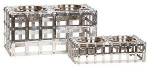 Unleashed Life Table en Aluminium avec Sangle Austin fabriquée à la Main Finition Nickel