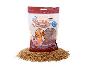 Vers de farine séchés par Chubby Mealworms – 1kg.