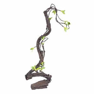 Vignes de Reptiles Grimpeur Artificiel Jungle Forest Bend Habitat pour Animaux de Compagnie Décor pour Serpents Grenouilles lézards(S)