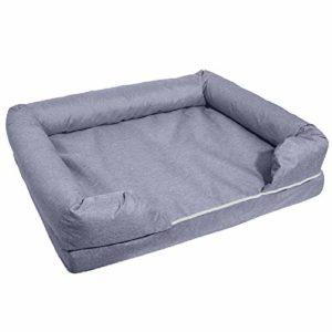 WFHhsxfh Canapé-lit Gris pour Animaux de Compagnie Nid en Coton à mémoire de Forme Grand lit pour Chien de chenil. Fournitures pour Animaux