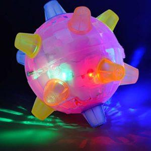 Wishwin Jouets pour Animaux de Compagnie Lumineux Balles de Jeu pour Chat Chien sautant Clignotant Jouet