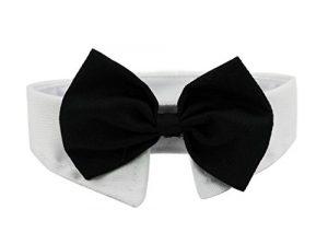 Ylen 2 x Chien Chat Cravate Formelle Animal de Compagnie Collier en Coton Ajustable Nœud Papillon Bowknot pour Fête Mariage