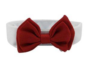 Ylen 2 x Cravate de Chat Chien Animaux Collier Réglable en Coton Chaton Chiot Noeud Papillon Formel Bowknot
