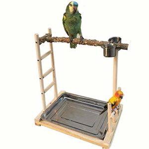 Zengqhui Support d'oiseau Oiseaux Support en Bois for Oiseaux de Formation de Formation appropriée for Les Oiseaux d'ornement Perroquets (Couleur : Wood, Size : 49x37x59cm)