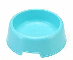 zhenchengshangpin Gamelle Ronde en Plastique Durable pour Animal Domestique et Chat Couleurs Bonbon