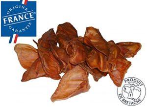 50 OREILLES DE PORC/COCHON SÉCHÉES POUR CHIEN (ORIGINE FRANCE)
