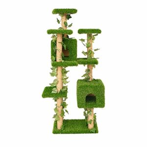 AB pet nest Nid Animaux de Compagnie Chat Cadre de grimpant étagère à Chat en Bois Massif Chat nid Une grimpante Chat Cadre Chat Villa Grand Arbre à Chat Cadre Chat Arbre sautant Chat Chat