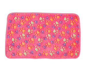 Aikesi Couverture Douce et Chaude en Velours pour Chien ou Chat Tapis Animal Domestique Coussin Size 76 * 53 cm (Rose)