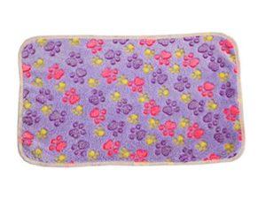 Aikesi Couverture Douce et Chaude en Velours pour Chien ou Chat Tapis Animal Domestique Coussin Size 76 x 53 cm (Violet)
