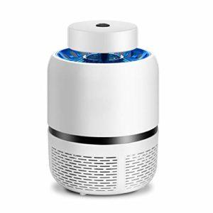 AJH Anti-Moustique Lampe LED Tueur de Moustique Muet Non-Chimique USB d'alimentation Non-radiations Tueur de Moustique Ventilateur intégré électrique UV économie d'énergie Lampe moustiques,Blanc
