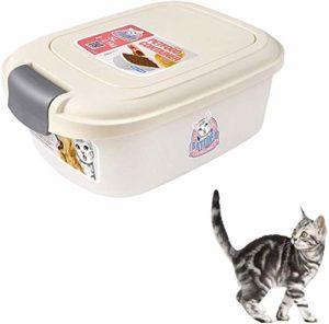 Animaux Croquettes Boîte de rangement Container Chien Chat animal Graines d'oiseaux Boîte de rangement baignoire, 13,39 * 9,45 * 5.31in Container alimentaire sec (Couleur: Beige) Animal de compagnie c