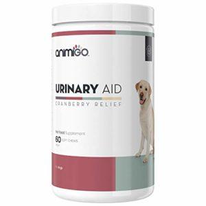 Animigo Aide Urinaire 60 Capsules Supplément pour Les Problèmes Urinaire à Base de Canneberge pour Chien