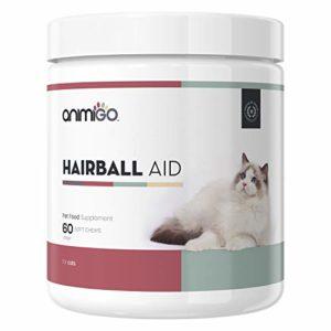 Animigo Hairball Aid 60 Friandises Naturelles Contre Les Boules de Poils Chat
