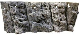 Aqua Maniac calcaire 3d Ensemble de fond d'aquarium, Polyrésine (pas en mousse), 8–15cm d'épaisseur, Unique Aqua Decor