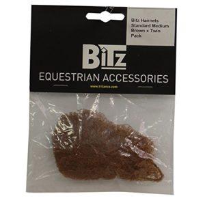 Bitz Filets à cheveux (Lot de 2) (Taille unique) (Châtain foncé)
