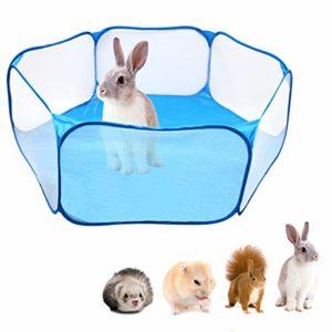 Camidy Parc pour Animaux de Compagnie Portable Pop Ouvert Intérieur/Extérieur Petit Animal Cage Tente Clôture pour Hamster Chinchillas Cochons d'Inde
