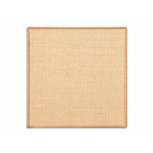 casa pura Tapis griffoir Jaune Clair pour Chats | en sisal résistant | 2 Tailles au Choix | Produit Naturel – sans substances Chimiques | 100x100cm