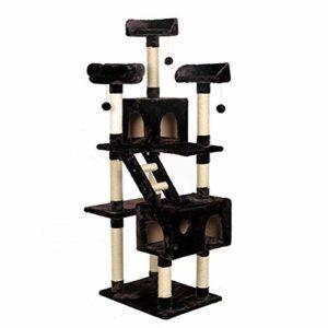 Cat Toys Arbre multi-niveaux d'activité for chat avec poteaux et conduits à gratter recouverts de sisal, meubles de tour de chat for chatons, animaux domestiques et animaux de compagnie Jouet interact