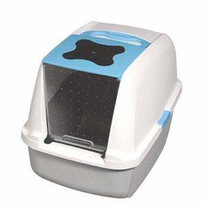 Catit Chat Maison de Toilette Bleu 57 x 46.5 x 39 cm
