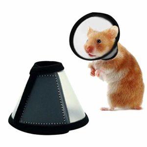 cedarfiny Collier pour Animaux De Compagnie Collier Élisabéthain pour Rongeurs Hamster Lapin Protection Cône Neck Colliers De Récupération