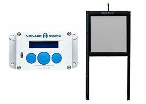 ChickenGuard® Premium Automatique Poulailler et d'ouverture de Porte à Verrouillage de Porte kit, Predator résistant aux Pop Trou de Porte