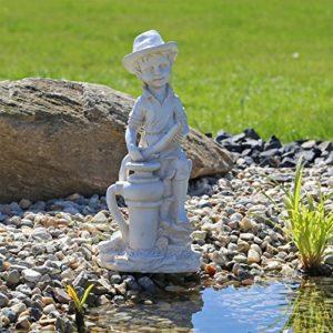 CLGarden Gargouille Figurine Bübchen jeunes Gargouille Spri ngru nnen pour étang Fontaine Statue pour bassin de jardin