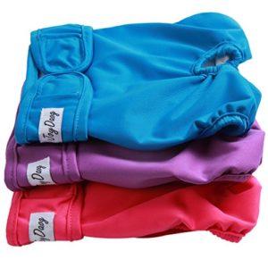 Couches de chien pour les petits chiens couches culottes hygiéniques lavables chiots réutilisables couches pantalon de chien pour les filles bandes de ventre wrap par JoyDaog, S