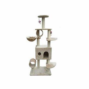 Cxjff Arbre à Chat à gratter Centre d'activité A Corde en sisal Naturel Cathead Cat Toy Cat Tree Cat Toys, Pet Supplies Pet Toy