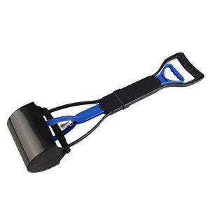 Déchets pour Chiens de Compagnie Pickup Facile cacca Scooper Walking Poo à crottes Grabber Picker Outils de Nettoyage Bleu