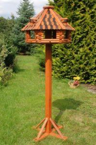 Deko-Shop-Hannusch Nichoir à oiseaux de luxe sur pieds en bois massif enduit Taille XXL