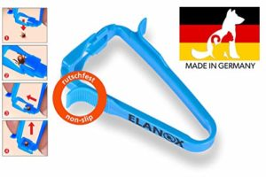 Elanox Pet Pince à tique avec fonction de levage enlèvement sûr de la tique sans glisser
